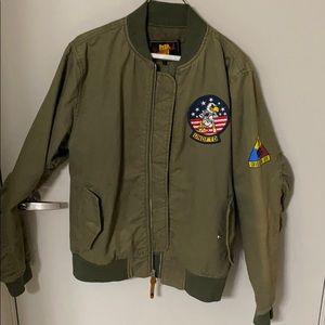 Undefeated green bomber jacket